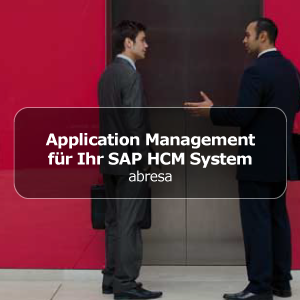 Application Management für Ihr SAP HCM System